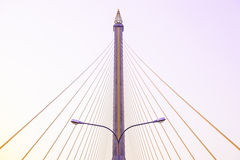 Lamp under the Rama VIII Bridge Royalty Free Stock Photos
