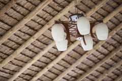 Lamp under Roof Outdoors Stock Photography