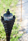 Lamp van bamboe Royalty-vrije Stock Fotografie