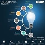 Lamp van het Idee en het Concepten Vectormalplaatje van illustratieinfographic van het Bedrijfssucces het moderne ontwerp met pic royalty-vrije stock afbeeldingen