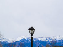 Lamp van Rocky Mountains Stock Afbeelding