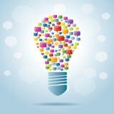 Lamp van toespraakbellen Stock Foto