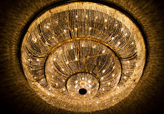 Lamp. This is a lamp that is very commonly found in Italian-style theaters Royalty Free Stock Photos