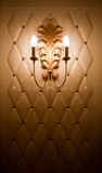 Lamp on vintage tile wall Stock Photography