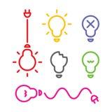 Lamp vlak ontwerp, vector Stock Afbeelding