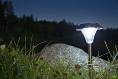 Lamp voor openluchtgebruik dat licht maakt Royalty-vrije Stock Afbeelding