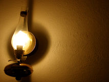 Lamp on wall. Old lamp on a wall (room for copy Stock Photo