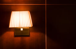 Lamp on wall Royalty Free Stock Image