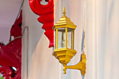 Lamp on the wall Royalty Free Stock Photos