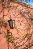 Lamp on the wall in the Marrakech Medina Royalty Free Stock Photo