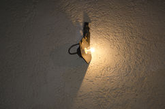 Lamp on the wall. In night time Stock Photography