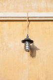 Lamp on the wall Royalty Free Stock Photography