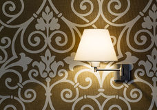 Lamp on a wall shining. Modern designe Royalty Free Stock Images