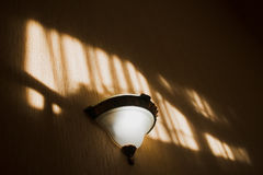 Lamp on the wall Stock Photography