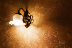 Lamp and wallpaper texture Royalty Free Stock Images