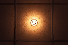 Lamp with warm illumination spectrum built in ceiling Royalty Free Stock Images