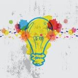 Lamp with watercolor splash vector illustration