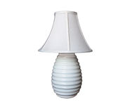 Lamp white with ribbed base Stock Image