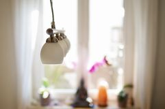 Lamp and wi ndow Royalty Free Stock Images