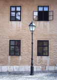 Lamp and windows Royalty Free Stock Photography