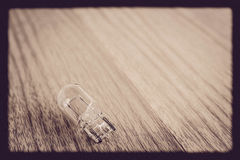 Lamp on the wooden floor vintage Stock Images