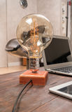 Lamp on working desk Stock Photography