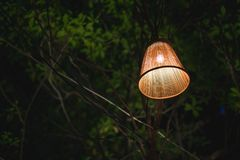 The country lamp. A lamp that working on the outdoor restaurant Royalty Free Stock Photo