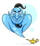 Lampa Aladdin med gin, den magiska lampan av Aladdin Ordna till f?r din design, h?lsningkortet, baner vektor stock illustrationer