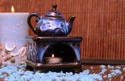 Lampa för aromatherapy Arkivfoto