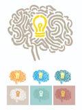 lampa för hjärnkulaillustration Arkivbilder