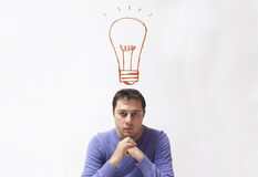 lampa för idé för sedelkulaaffär över Royaltyfria Foton