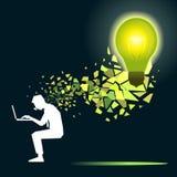 lampa för idé för sedelkulaaffär över Fotografering för Bildbyråer