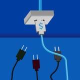 lampa för idé för sedelkulaaffär över Arkivbild