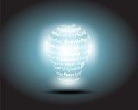 lampa för intelligens för svart kula för bakgrund hög Royaltyfri Fotografi