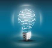 lampa för intelligens för svart kula för bakgrund hög Royaltyfri Bild