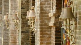 Lampa för kaféväggvägg Royaltyfri Fotografi