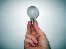 lampa för kulahandholding Arkivbilder
