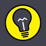 Lampa för ljus kula Arkivbild