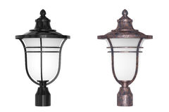 Lampa för lyktagatakolonn framförande 3d royaltyfri illustrationer
