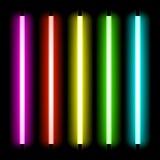 Lampa för neonrör Arkivfoto