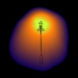 Lampa för tappningnattgata vektor illustrationer