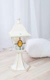Lampa för vit jul Arkivfoton