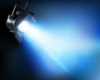 Lampa från en show Arkivfoto