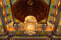 Lampa i kinesisk tempel Arkivbild