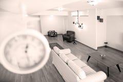 Lampa i livingroom Royaltyfri Bild