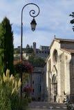 Lampa i Sisteron arkivbild