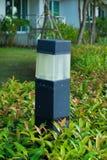 Lampa i trädgården Arkivbild