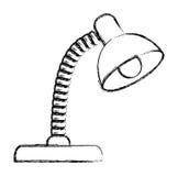 lampa ilustracyjny stół ilustracja wektor