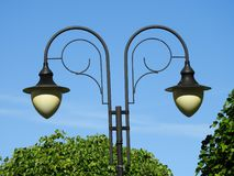 Lampa, kopia, czerń, park, dzień Zdjęcia Royalty Free