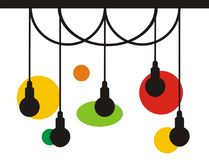 Lampa loga projekta lekka inspiracja z eps i jpeg ilustracja wektor
